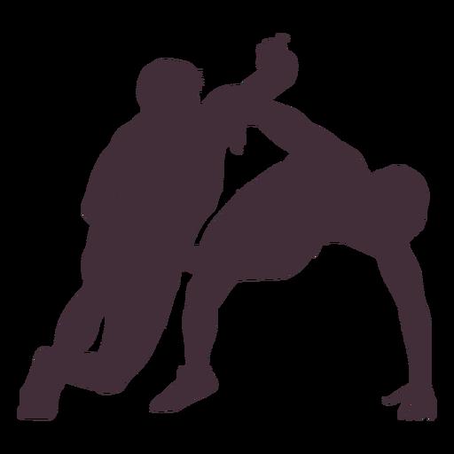 People wrestling combat silhouette