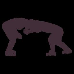 Wrestling lock silhouette