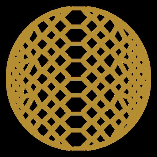 Round snake skin badge