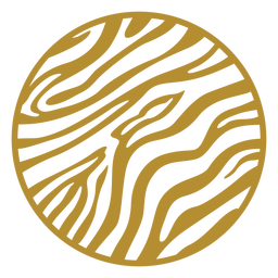 Round zebra print badge