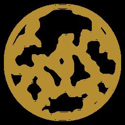 Round cow print badge