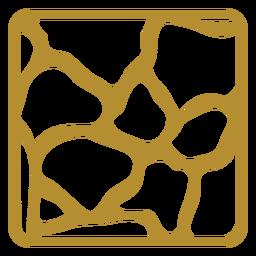 Giraffe print badge
