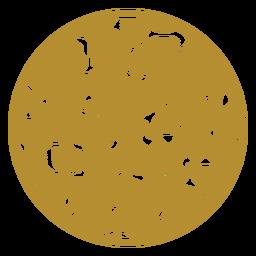 Round jaguar print badge