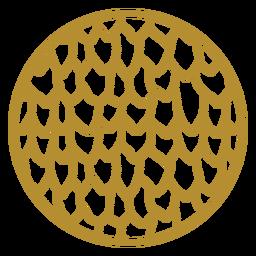 Round dragon scale badge