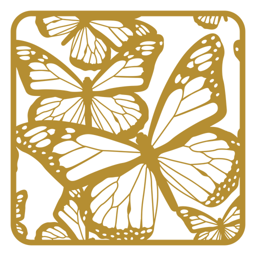 Butterfly print badge