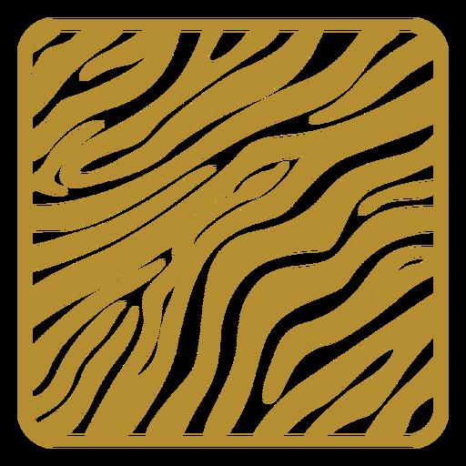Zebra print badge