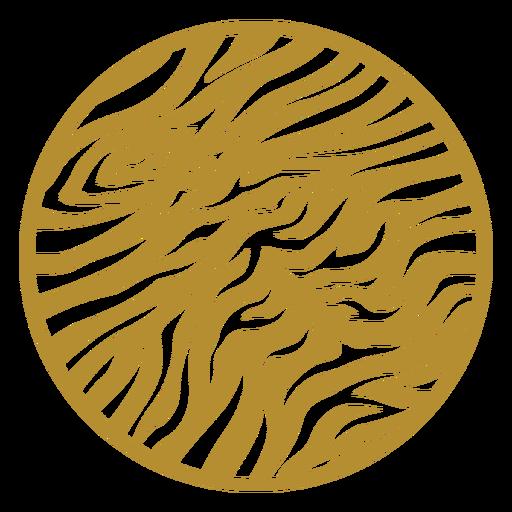 Round tiger print badge