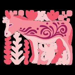Swirly donkey composition