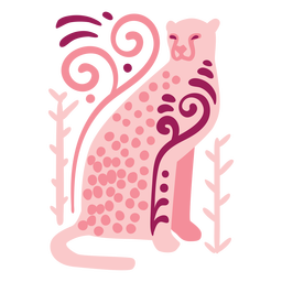 Swirly leopard composition