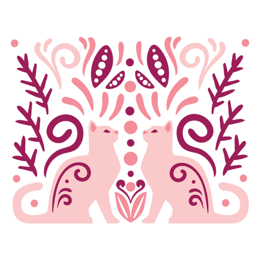 Swirly cats composition