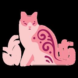 Composição de gato ondulado