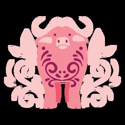 Composición de búfalo swirly