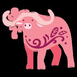 Piso de búfalo swirly