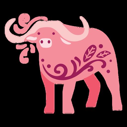 Swirly buffalo flat