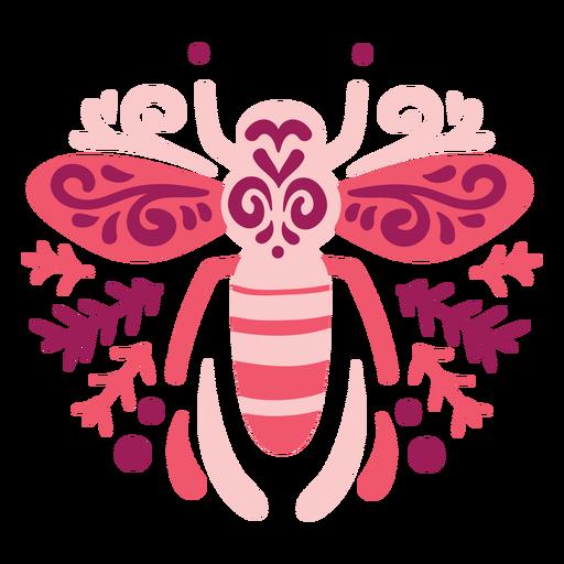 Composição de abelha em espiral