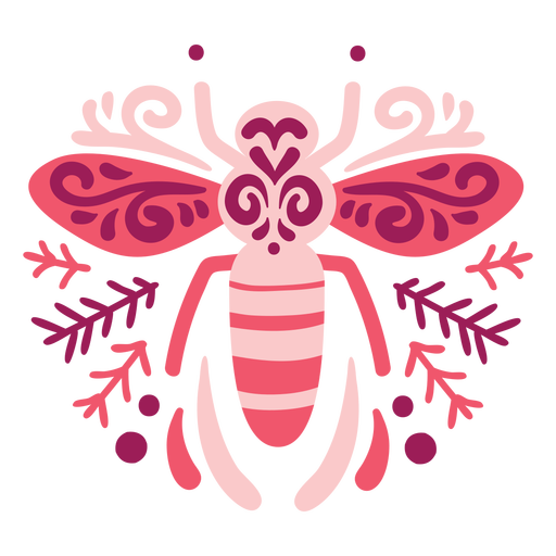 Swirly bee composition