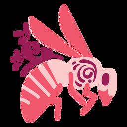 Swirly bee flat