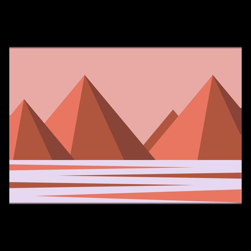 Desert pyramids landscape
