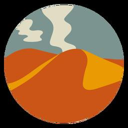 Paisagem de montanhas do deserto