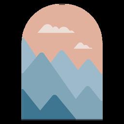 Geometric mountains landscape