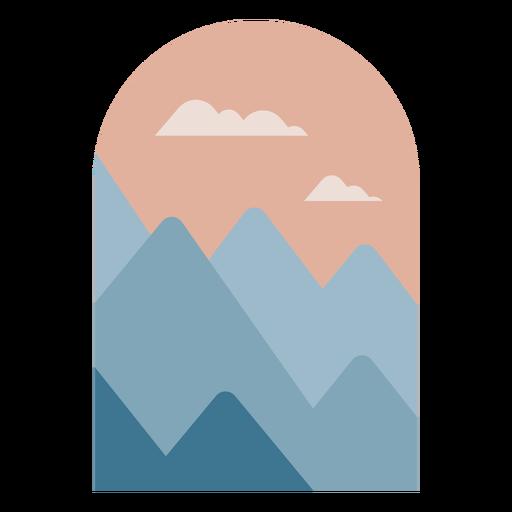 Paisaje de montañas geométricas