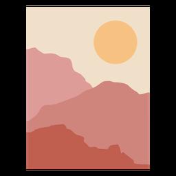 Paisaje de montaña al amanecer