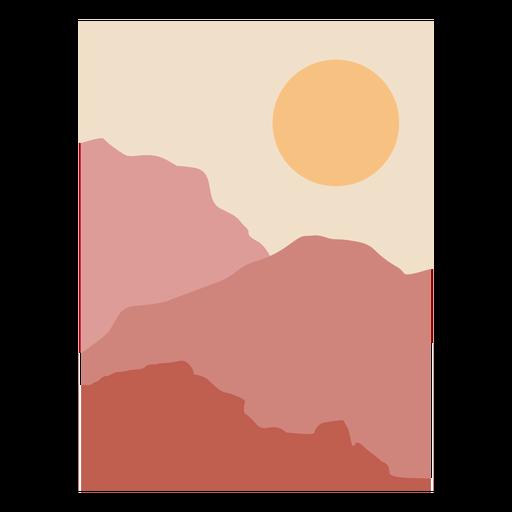 Paisagem montanhosa ao nascer do sol