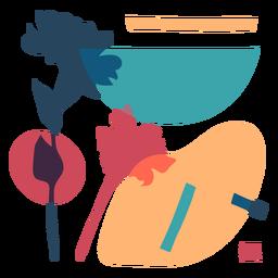Composición colorida abstracta de la naturaleza