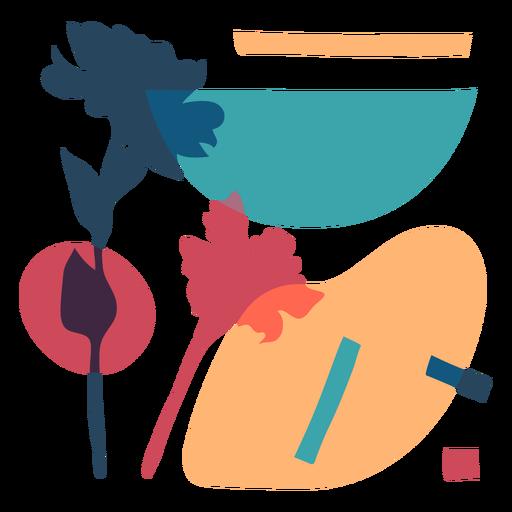 Composição colorida abstrata da natureza