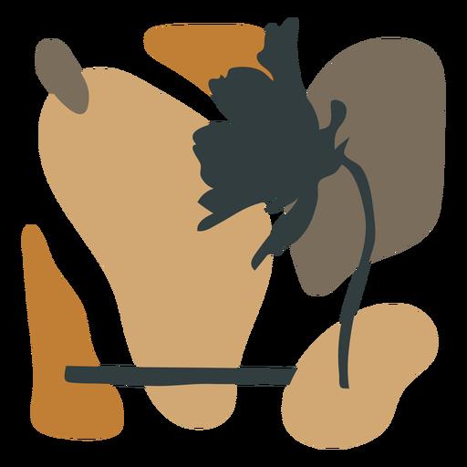 Composición abstracta de hojas