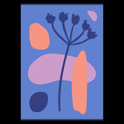 Naturaleza abstracta azul