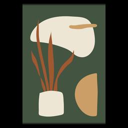 Composição abstrata da planta da casa