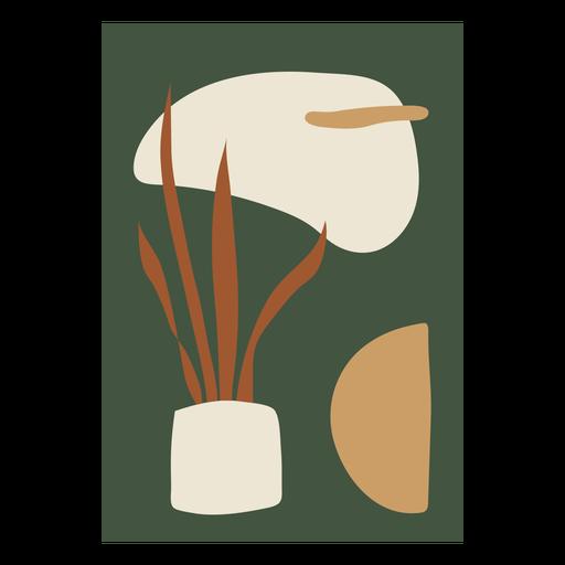 Composición abstracta de la planta de la casa