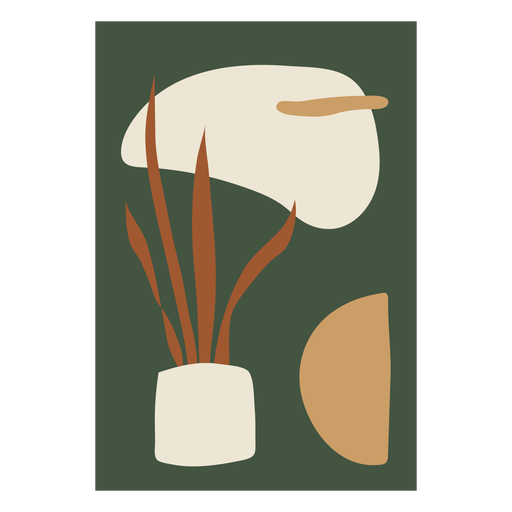 House plant abstract composition Transparent PNG