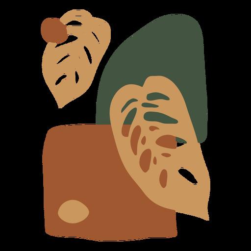 Composición vegetal abstracta Transparent PNG