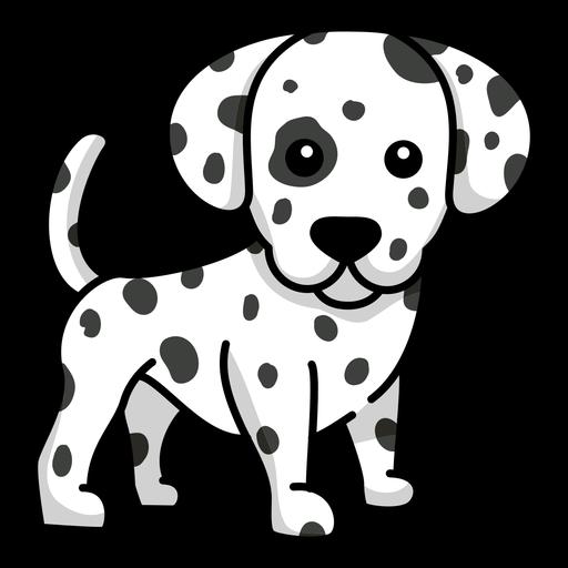 Dalmatian dog flat