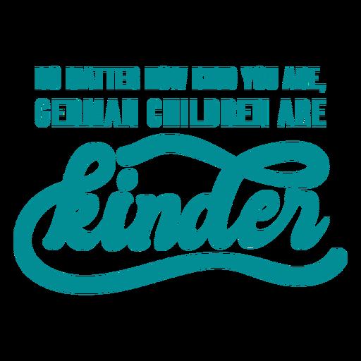 Letras de broma de niños alemanes