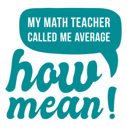 Letras de broma de profesor de matemáticas