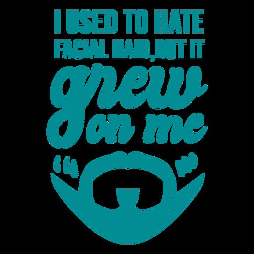 Facial hair joke lettering Transparent PNG
