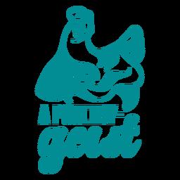 Poultry geist dad joke lettering
