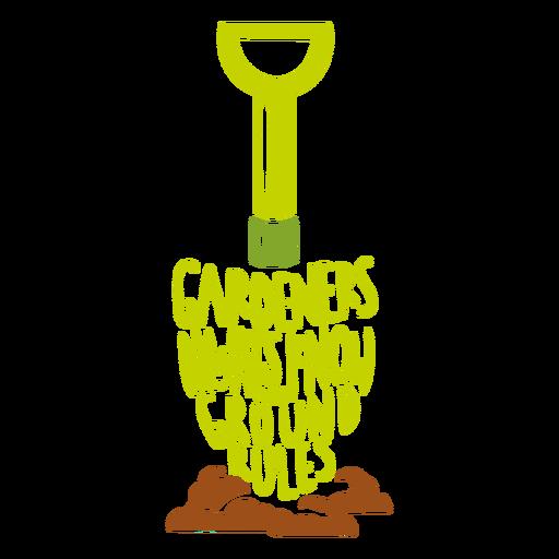 Gardening dad joke badge