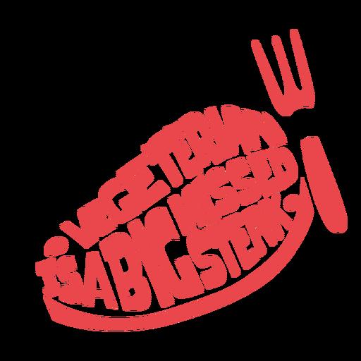 Distintivo de piada engraçada vegetariana