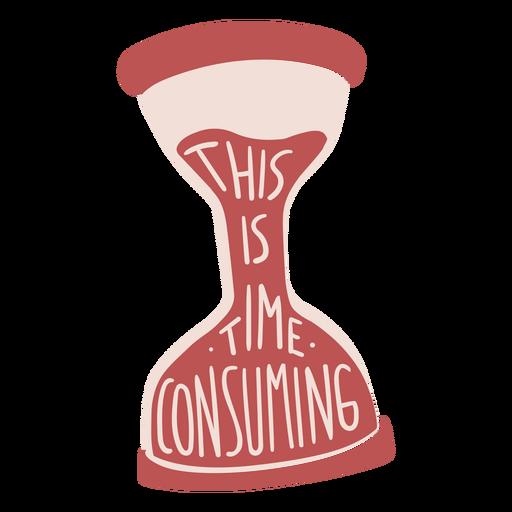 Insignia de broma de tiempo de reloj de arena Transparent PNG