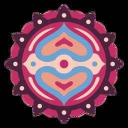 Mandala pink design flat