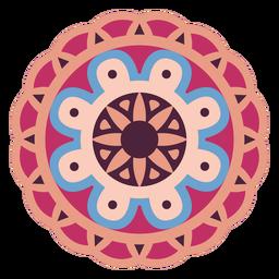 Circle mandala colorful flat