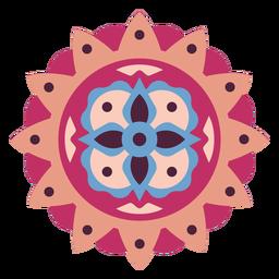 Mandala floral design flat