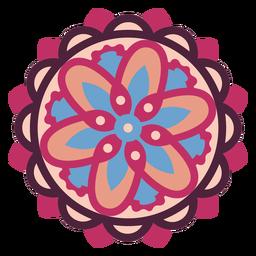 Pink floral mandala flat