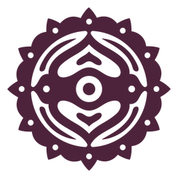 Mandala purple cut-out