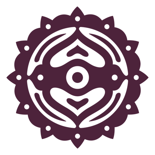 Mandala purple cut-out
