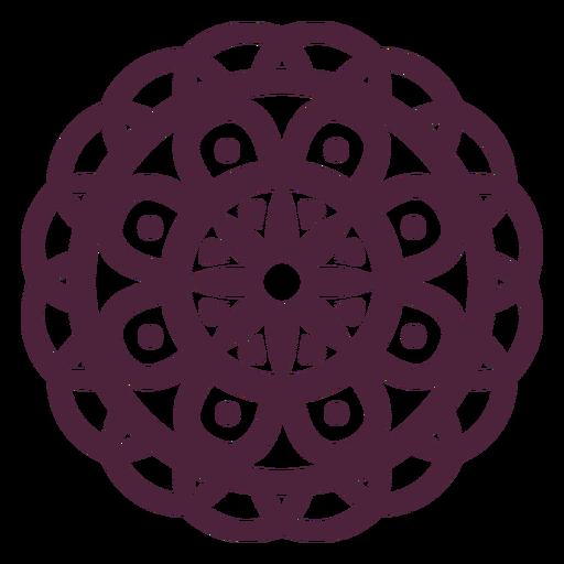 Mandala purple flower cut-out